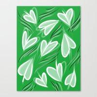 Springing Hearts Canvas Print