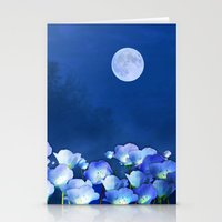 Cornflowers In The Moonl… Stationery Cards