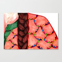Canvas Print featuring Braid & Bunting Sweater by SmallIslandInTheSun