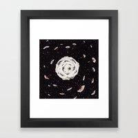 Space Dandelion Framed Art Print