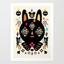 Rainbow Bunny Art Print