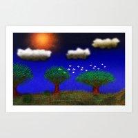 BLUE_DAY-024 Art Print