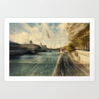 Paris in style Art Print