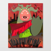 Attack Of My Imagination Canvas Print