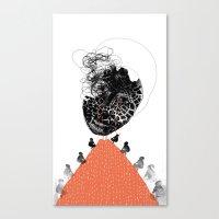 Moonrise Mountain (mothe… Canvas Print