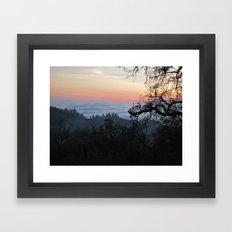 Fog-Filled Valley at Sunset Framed Art Print