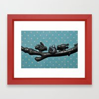 Bird Love Framed Art Print
