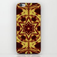 Star mandala in golden brown iPhone & iPod Skin