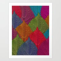 Leaves Forest Art Print