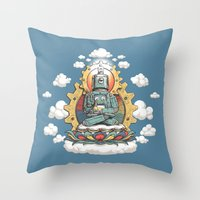 Buddha Bot V6  Throw Pillow