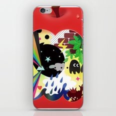 the world inside the apple  iPhone & iPod Skin