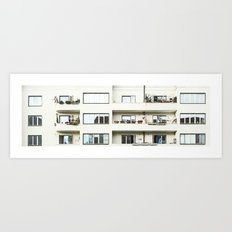 Looking at the neighbor. Art Print