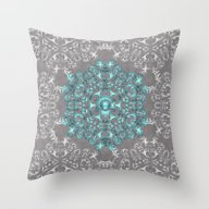 Mandala Pattern With Gli… Throw Pillow