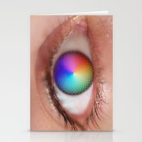 I see all the Colors - Geometric Pantone Eye Vision Stationery Cards