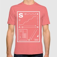 Sea And Sand Mens Fitted Tee Pomegranate SMALL