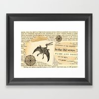 Flies and Bees Framed Art Print