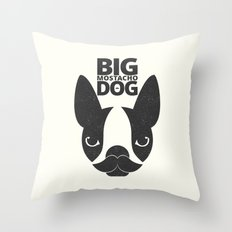 Big Mostacho Dog Throw Pillow