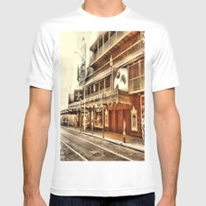 Give My Regards To Broadway White Mens Fitted Tee SMALL