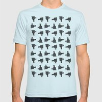camera 03 pattern Mens Fitted Tee Light Blue SMALL