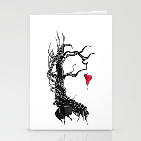 Love, like a tree Stationery Card