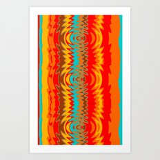 Groovy Red Art Print