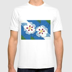 Columbines Mens Fitted Tee SMALL White