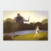 David Faces Goliath (By … Canvas Print