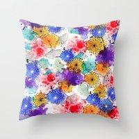 Printed Silk Exotic Garden Throw Pillow