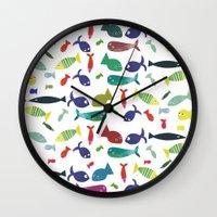 Happy colourful fish  Wall Clock
