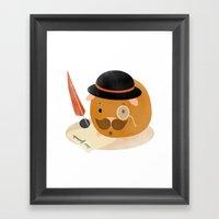 Guinea Pig Portrait 2 Framed Art Print