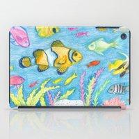 Crayon Fish #3 iPad Case