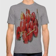 Cherries Mens Fitted Tee Athletic Grey SMALL