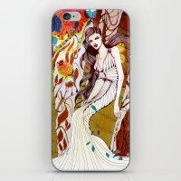 Fall Long Dresses  iPhone & iPod Skin