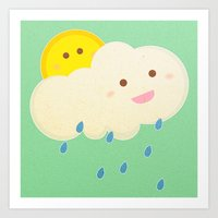 Raining day Art Print