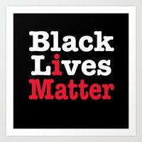 BLACK LIVES MATTER (inverse version) Art Print