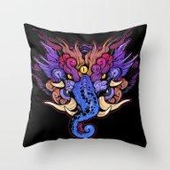Throw Pillow featuring BAKU by Missmonster