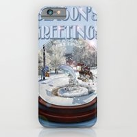 iPhone & iPod Case featuring Blue Christmas Greeting Card by Dolphin and Cow