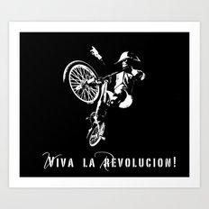 Viva La Revolucion BMX Art Print