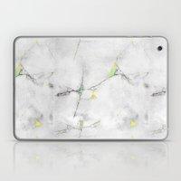 Yellow Cracked Design Laptop & iPad Skin