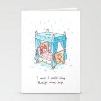 Rainy Days 2 Stationery Cards
