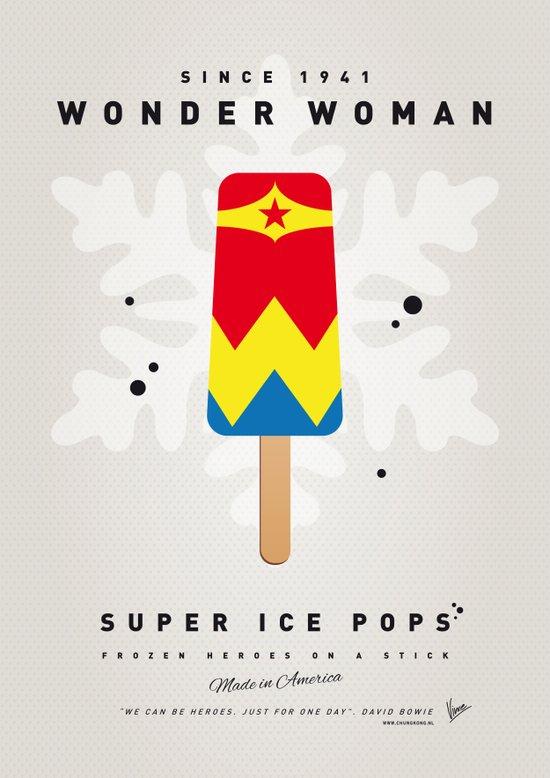 My SUPERHERO ICE POP - woman - No17 WONDER Canvas Print