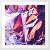 Pink Texture  Art Print