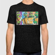 Teenage Mutant Ninja Tur… Mens Fitted Tee Tri-Black SMALL