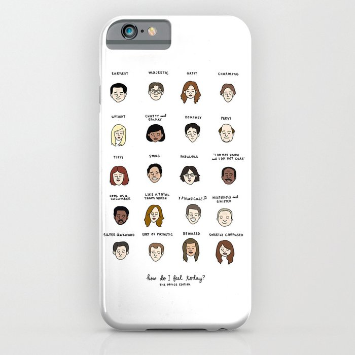 the office mood chart iphone ipod case by tyler feder. Black Bedroom Furniture Sets. Home Design Ideas