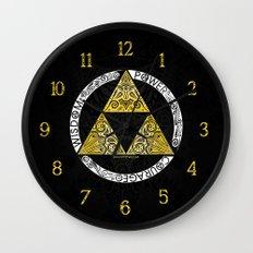 Zelda - triforce circle Wall Clock