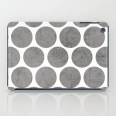 gray polka dots iPad Case
