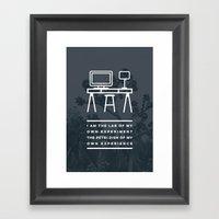 I AM THE LAB - Manini Be… Framed Art Print