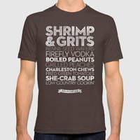 Charleston — Delicious… Mens Fitted Tee Brown SMALL