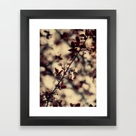 Framed Art Print featuring Red by Ingrid Beddoes