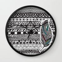 Aztec Feather. Wall Clock